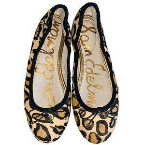 Sam Edelman Felicia fur leopard ballet flats - 7